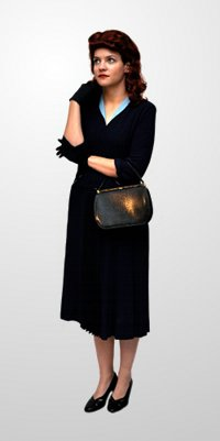Forties Blue Dress