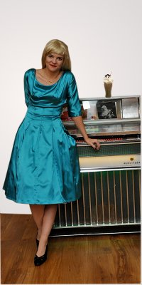 Fifties Blue Satin