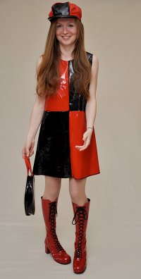 Red and black Sixties dress