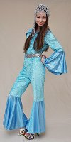 Blue Abba style suit