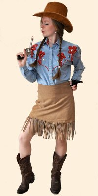 Cowgirl shirt and skirt